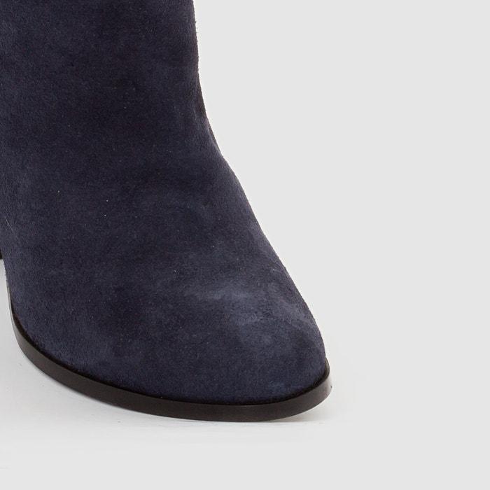 afbeelding Boots met hak in leer La Redoute Collections