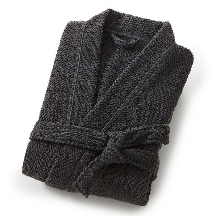 peignoir col kimono homme pur coton cisel 350g m gris scenario la redoute. Black Bedroom Furniture Sets. Home Design Ideas