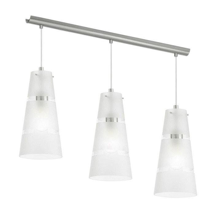 Suspension simple noria blanche en verre blanc keria la redoute - Keria luminaire suspension ...
