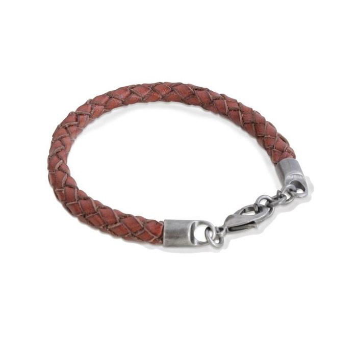 Bracelet en cuir, tressé, marron, palerme marron Cravate Avenue Signature | La Redoute