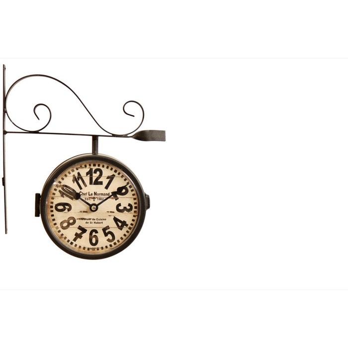 d coration d 39 autrefois horloge de gare ancienne double. Black Bedroom Furniture Sets. Home Design Ideas