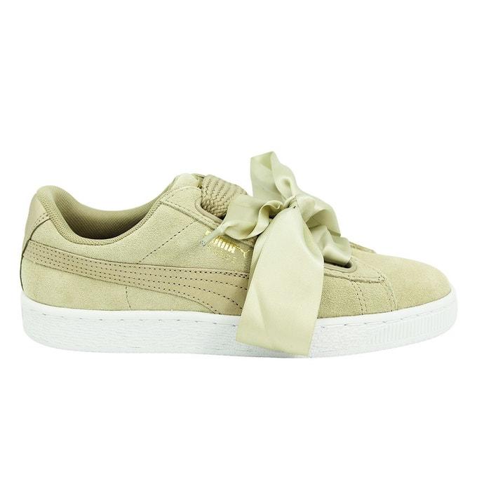 Vente Au Rabais Puma wns basket heart metallic safari chaussures mode sneakers femme cuir suede beige Puma Expédition Des Frais Bas Prix Pas Cher 5zcCsFE
