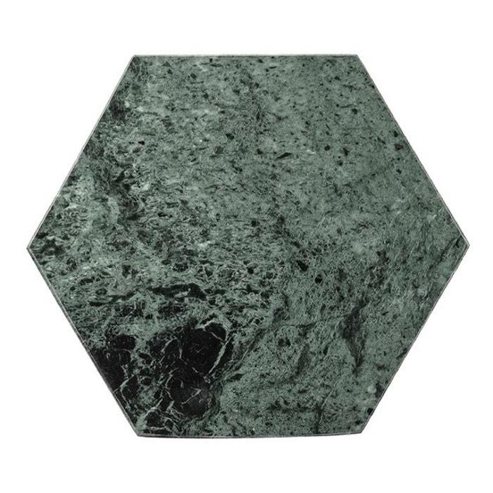 planche d couper bloomingville hexagonal marbre vert. Black Bedroom Furniture Sets. Home Design Ideas
