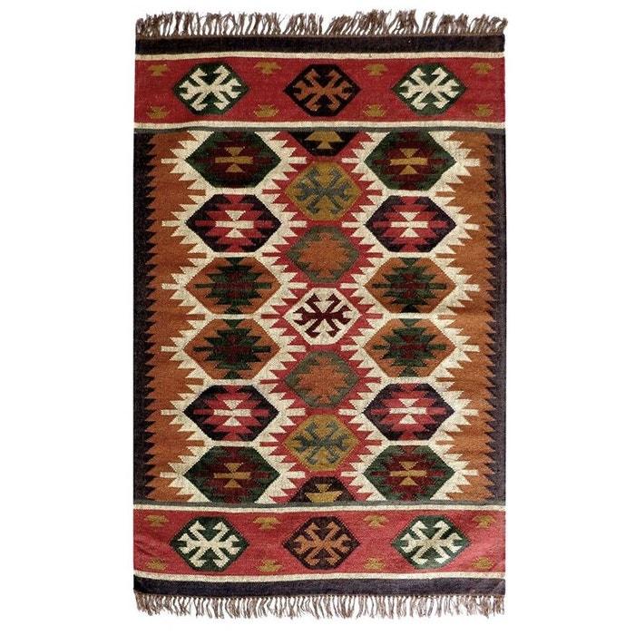 tapis kilim en laine et jute tiss main maduban couleur. Black Bedroom Furniture Sets. Home Design Ideas