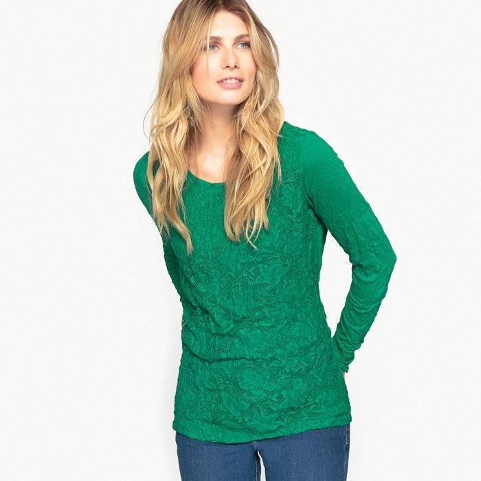 T-shirt, jersey stropicciato e pizzo  ANNE WEYBURN image 0