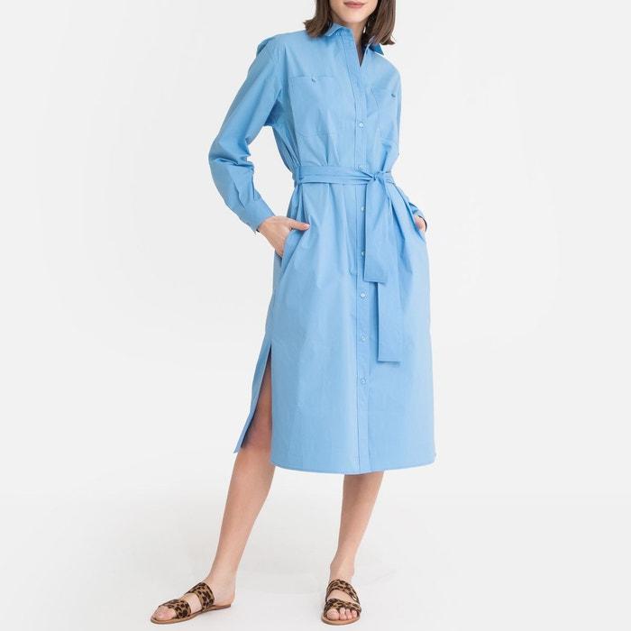 Robe Robe Chemise Bleu Chemise Longue NwmOn0v8