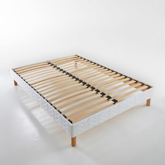 sommier tapissier lattes nues reverie blanc la redoute. Black Bedroom Furniture Sets. Home Design Ideas