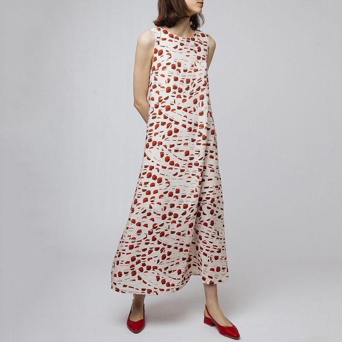 ad78de6434940 Robe longue à enfiler, imprimé graphique ecru/rouge Compania Fantastica |  La Redoute