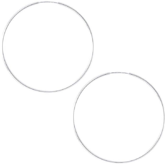 Boucles d'oreilles créoles flexibles femme diamètre 40 mm fil de boucle 1 mm Vente Pas Cher Trouver Une Grande Choix À Vendre En Ligne Officielle remise 3bKJk