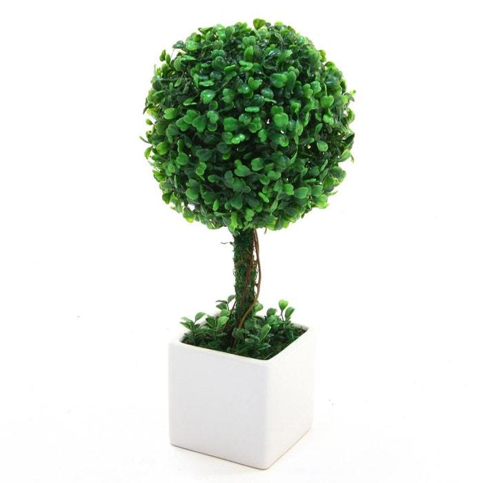 boule de buis artificielle en pot diam 18 cm vert atmosphera la redoute. Black Bedroom Furniture Sets. Home Design Ideas