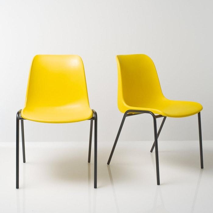 Chaise vintage empilable, (lot de 2), Janik LA REDOUTE SHOPPING PRIX
