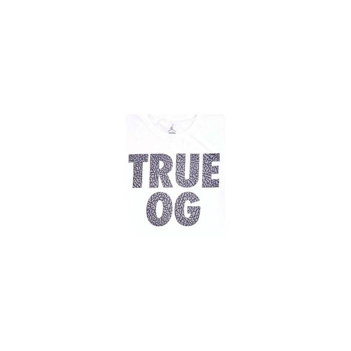 timeless design 92f08 4b5b5 T-Shirt 3 - True OG - Blanc - 801582-100 JORDAN image 0. Ce produit a bien  été ajouté à votre liste de préférés.