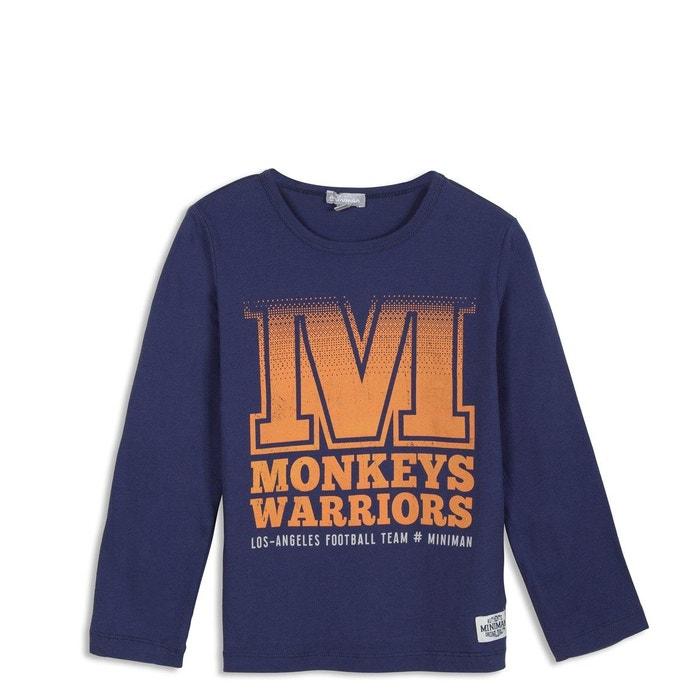 427f0b74749d6 T-shirt avec motif imprimé bleu marine Miniman