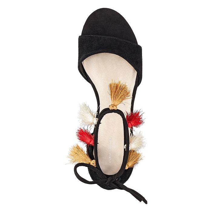 Sandalias de con detalle CASTALUNA 45 borla ancho 38 pie del al wZ7qt