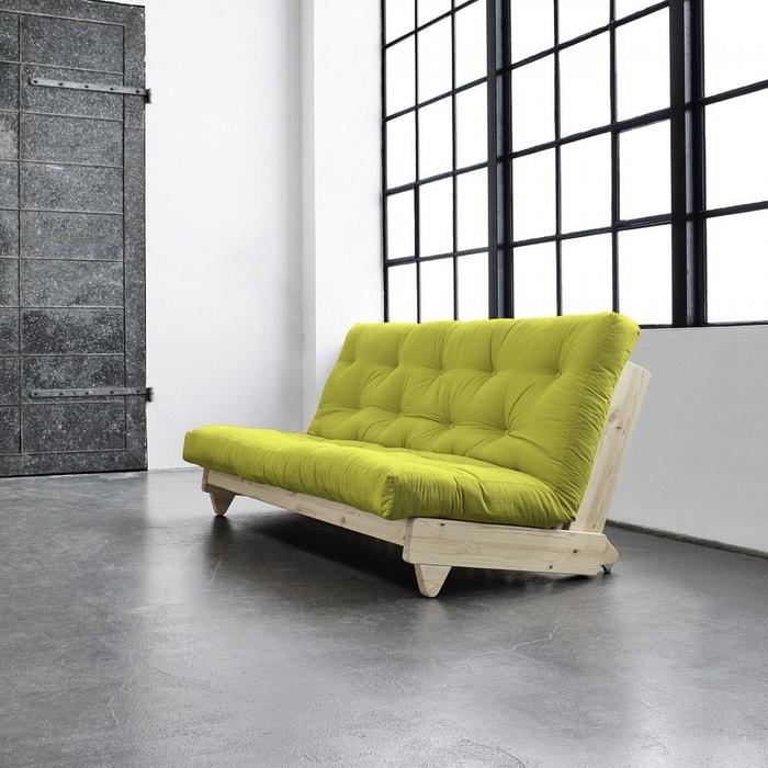 pack futon coton pistache 140x200 banquette fresh bois. Black Bedroom Furniture Sets. Home Design Ideas