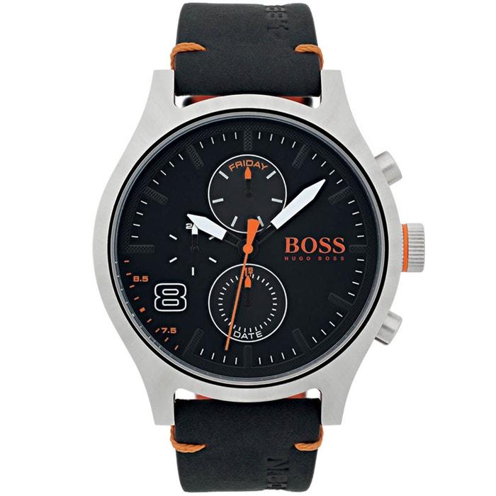 Montre boss orange en cuir noir noir Boss Orange | La Redoute Réel La Vente En Ligne Faux Pas Cher En Ligne Wiki À Vendre yhqu85z