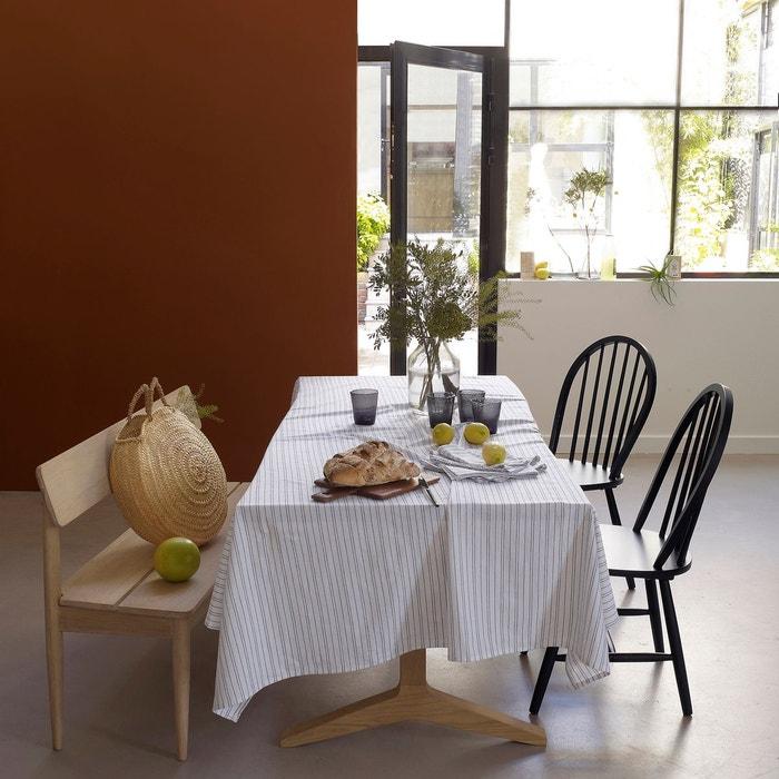 nappe coton lin lav uzes ecru ray la redoute interieurs. Black Bedroom Furniture Sets. Home Design Ideas