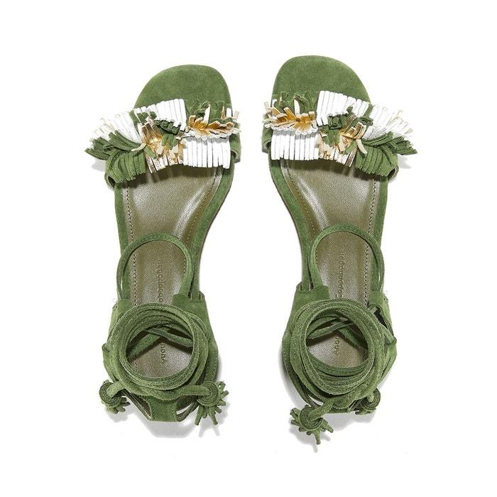Sandales cuir velours chèvre fay suede multicolor vert Anonymous Copenhagen