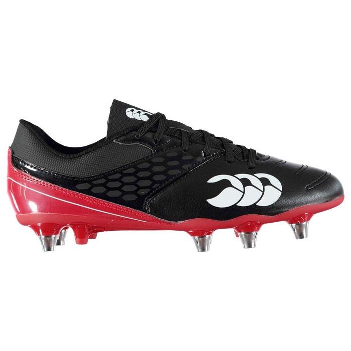 Chaussures de rugby à lacets noir Canterbury