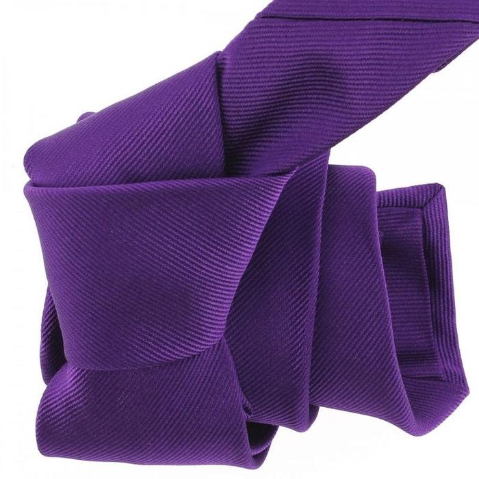 Cravate luxe faite à la main, mauve mammola violet Tony Et Paul | La Redoute