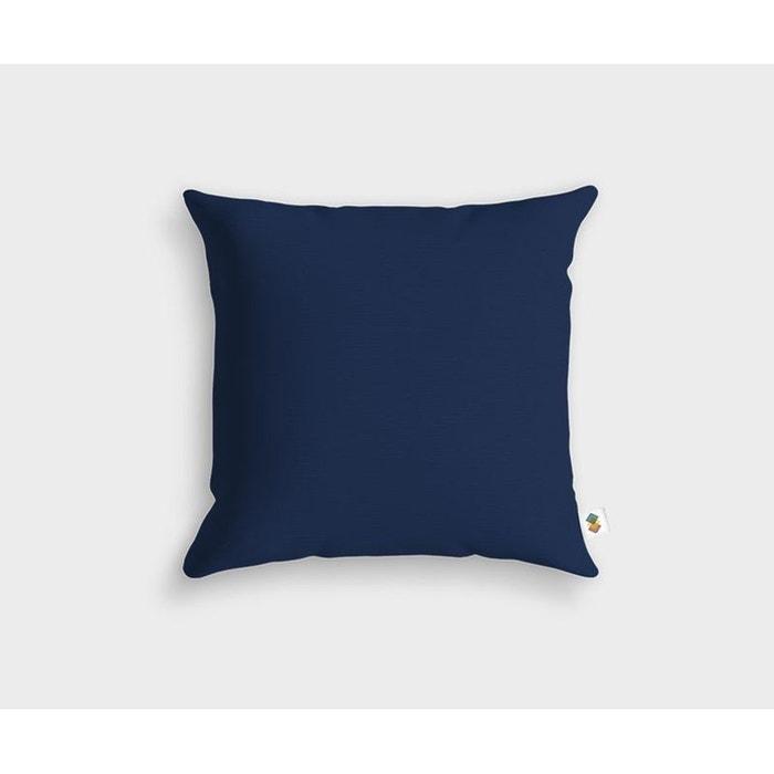coussin basic bleu nuit 45x45cm bleu nuit housse de coussin la redoute. Black Bedroom Furniture Sets. Home Design Ideas