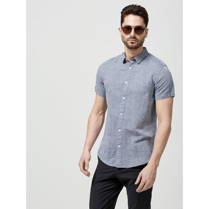 chemise manches courtes regular fit selected homme la redoute. Black Bedroom Furniture Sets. Home Design Ideas