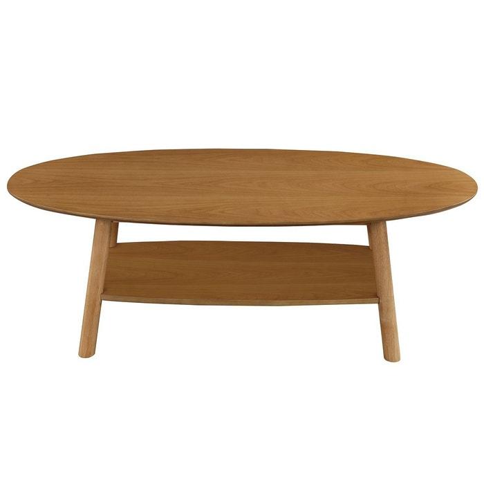 table basse design bois ovale yoko bois verni miliboo la redoute. Black Bedroom Furniture Sets. Home Design Ideas