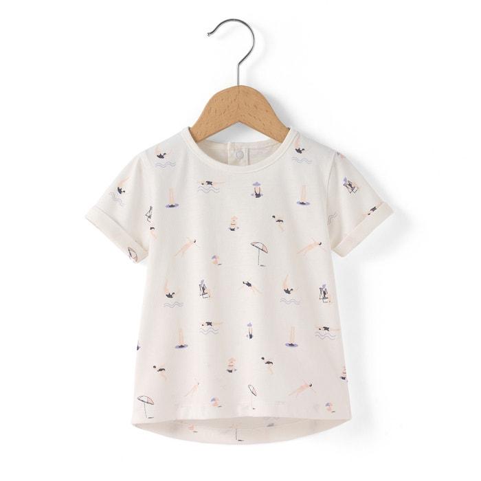 Image T-shirt coton bio imprimé 1 mois - 3 ans R essentiel