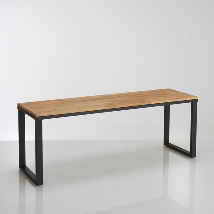 bank eik en staal lengte 120 cm hiba naturel licht. Black Bedroom Furniture Sets. Home Design Ideas