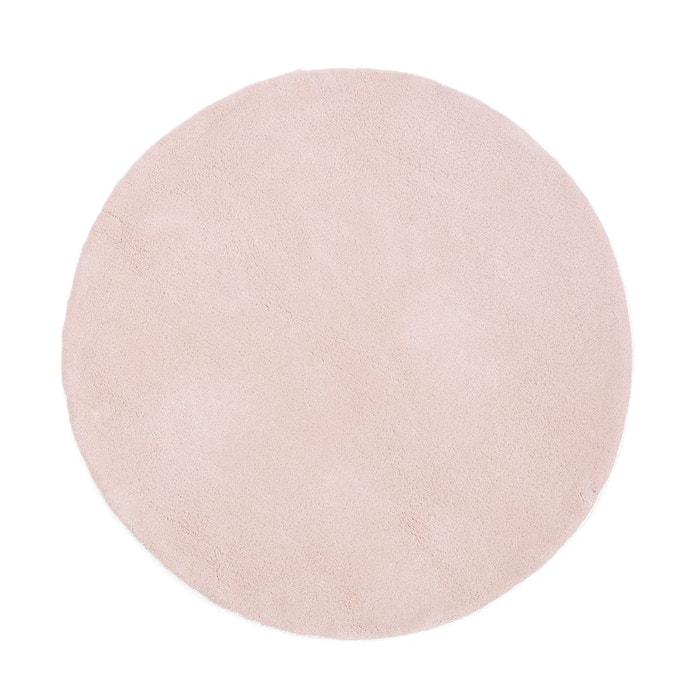 tapis rond coton tuft renzo petit mod le rose pastel la. Black Bedroom Furniture Sets. Home Design Ideas