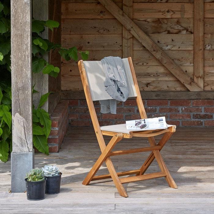 Chaise en bois d 39 acacia fsc et textil ne bois clair bois dessus bois dess - Dessus de chaise en bois ...