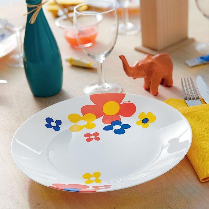 service de vaisselle fleurs 18 pi ces arcopal celestine multicolor luminarc la redoute. Black Bedroom Furniture Sets. Home Design Ideas