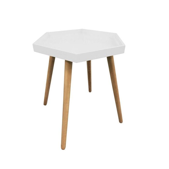 table plateau hexagonale blanche blanc atmosphera la redoute. Black Bedroom Furniture Sets. Home Design Ideas