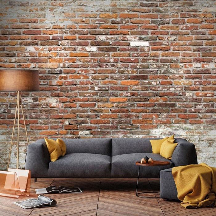 Graham & brown papier peint panoramique intissé mur briques rouge