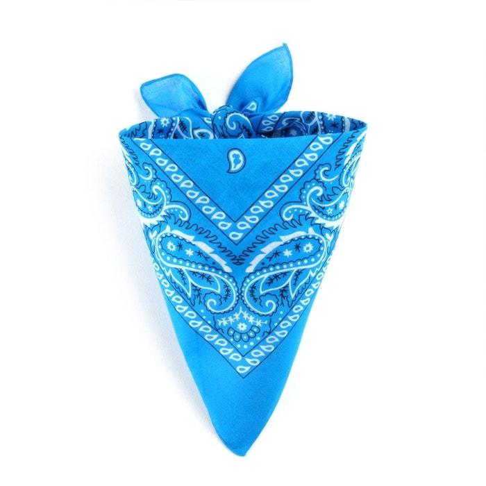 Foulard bandana bleu cyan bleu Allee Du Foulard   La Redoute cdba8d383dc