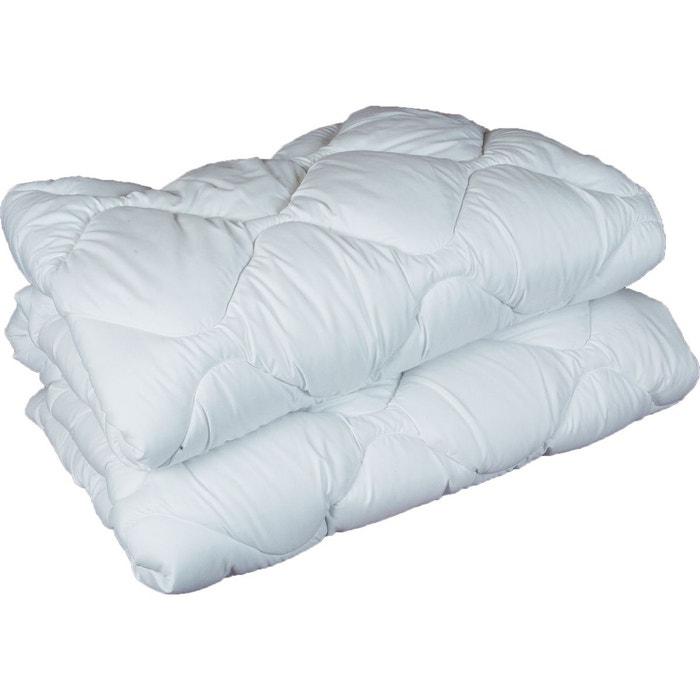couette microfibre double face 400gr m courchevel blanc sensei la maison du coton la redoute. Black Bedroom Furniture Sets. Home Design Ideas