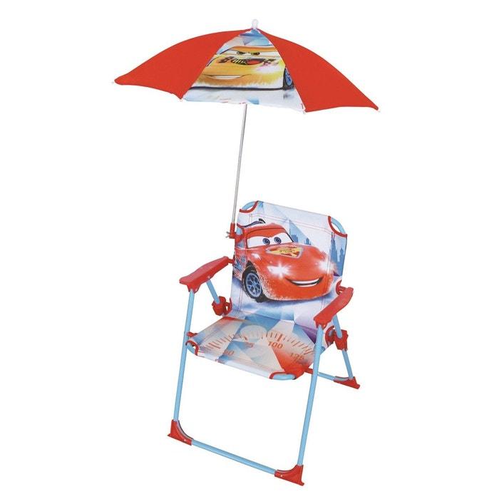 chaise pliante cars ice racing 1 chaise pliante et 1 parasol rouge clair framboisine et. Black Bedroom Furniture Sets. Home Design Ideas