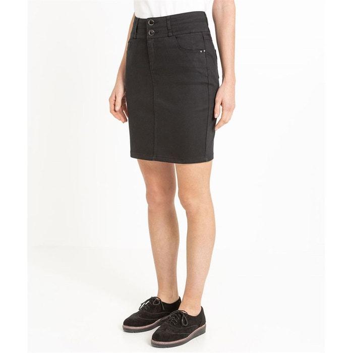 Jupe en jean taille haute noir Grain De Malice  cbf14d2199a