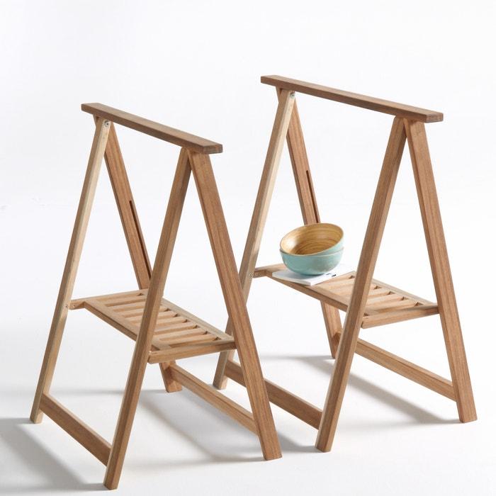 Confezione da 2 cavalletti in legno di acacia, Julma  La Redoute Interieurs image 0