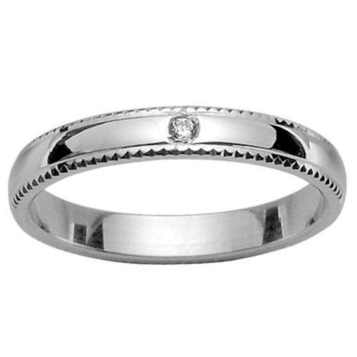 Bague alliance anneau joaillerie 4 mm diamant blanc argent 925 couleur unique So Chic Bijoux | La Redoute 2018 Plus Récent 2R7Hvybn69