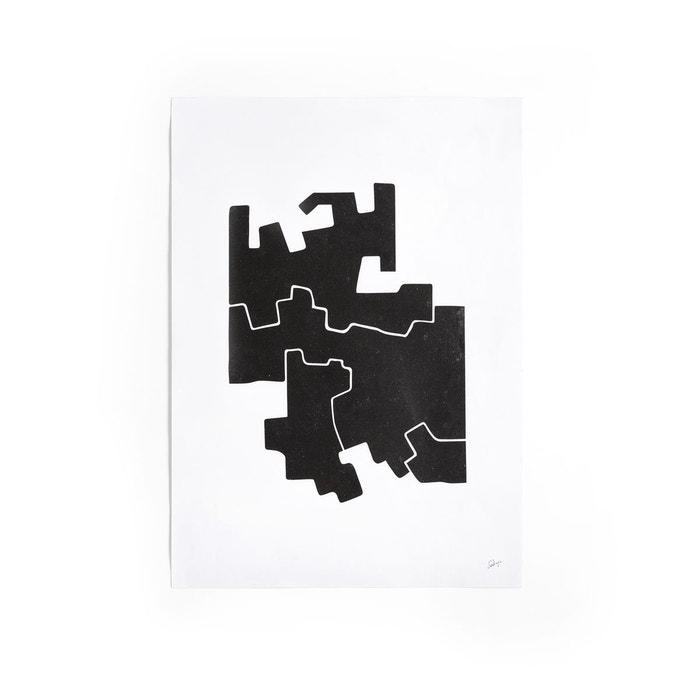 affiche motif 2 noir et blanc bialik noir blanc am pm la redoute. Black Bedroom Furniture Sets. Home Design Ideas