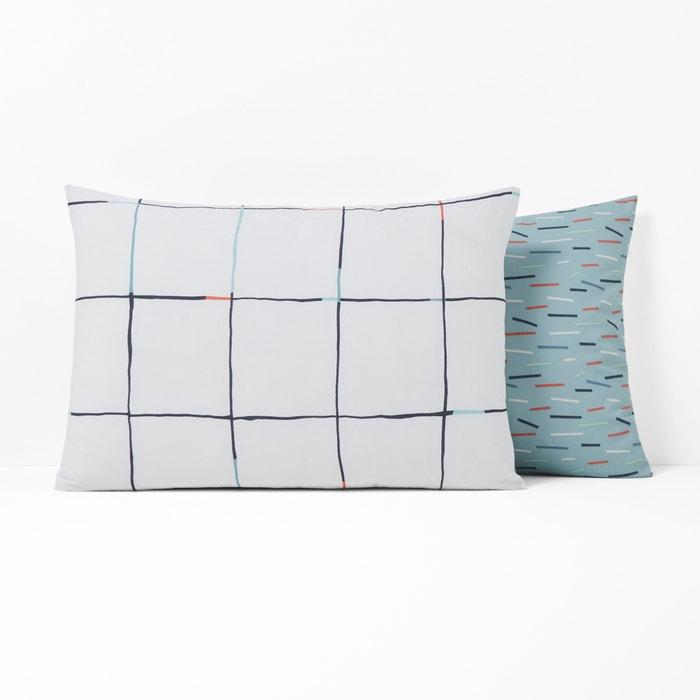 MIST Pure Cotton Percale Pillowcase  La Redoute Interieurs image 0