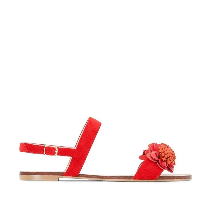 Sandales détail fleurs pied large 38-45 Castaluna