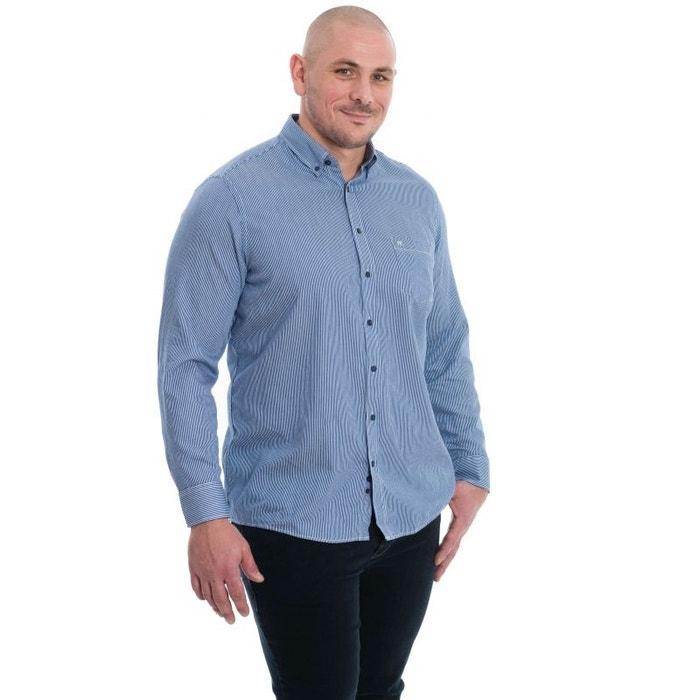 Chemise bleu à rayure blanc. bleu Casa Moda
