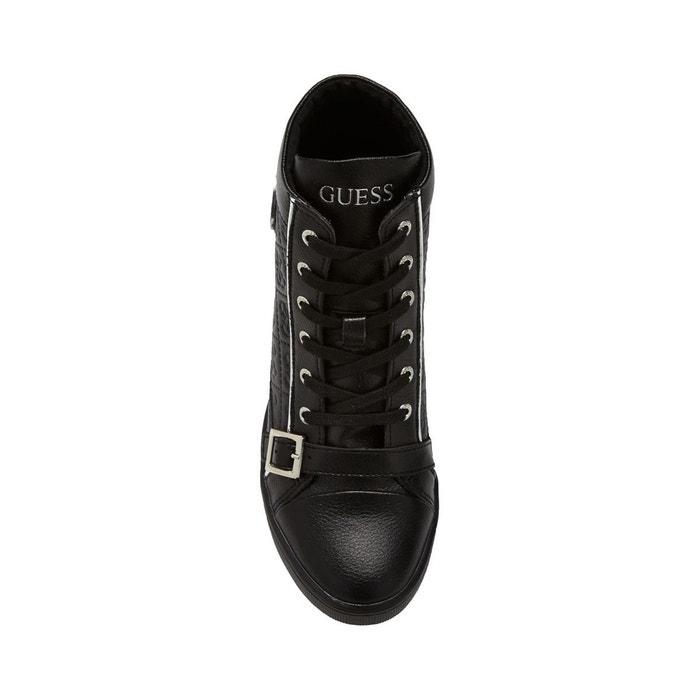Sneaker fiore cuir Guess