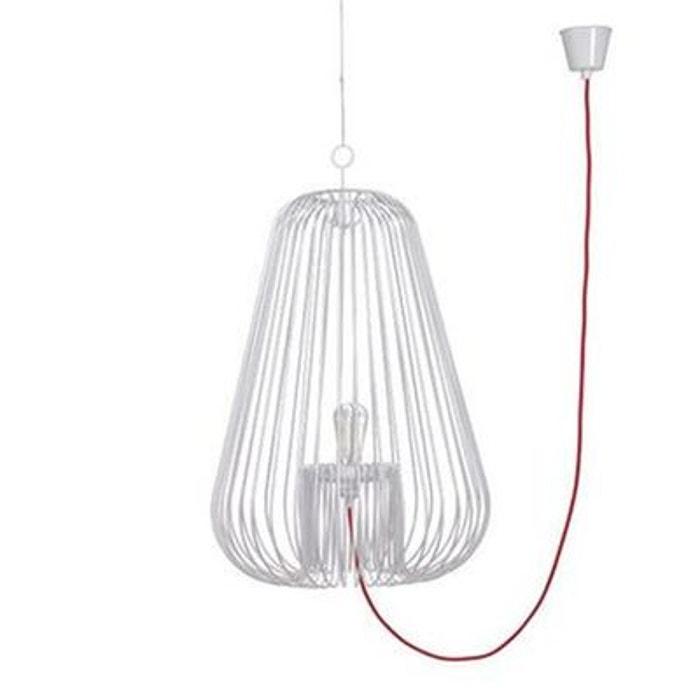 light cage suspension blanc h40cm blanc pop corn la redoute. Black Bedroom Furniture Sets. Home Design Ideas