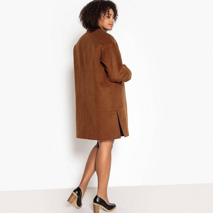 Halflange jas, 33% wol, knoopsluiting