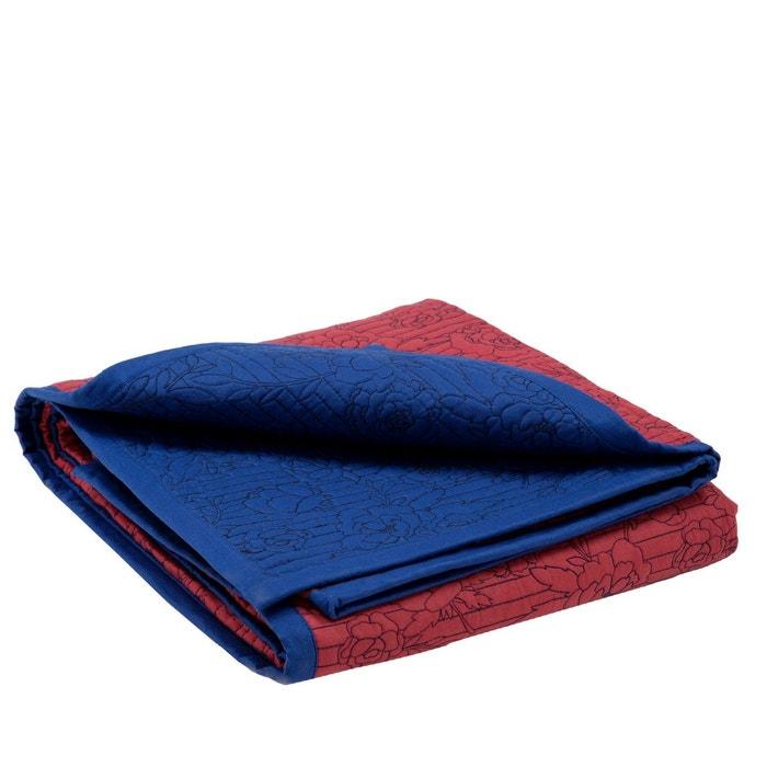 Couvre lit matelass coton flora bleu marine et bordeaux bleu marine et bordeaux madura la redoute - Couvre lit matelasse la redoute ...