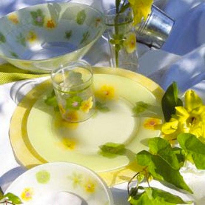 service de vaisselle vert 19 pi ces poeme anis couleur unique luminarc la redoute. Black Bedroom Furniture Sets. Home Design Ideas