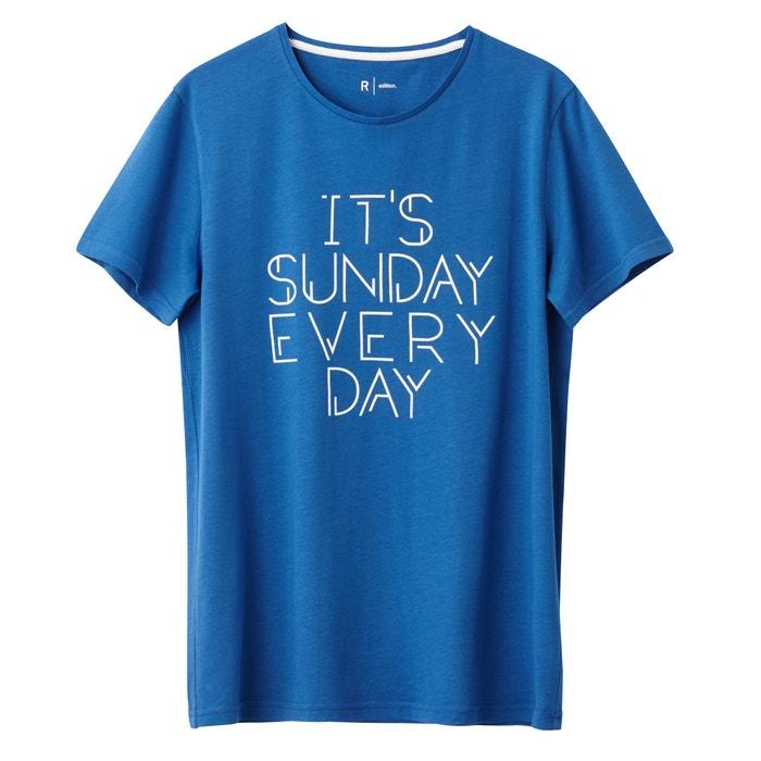 Imagen de Camiseta 100% algodón estampada, cuello redondo R édition